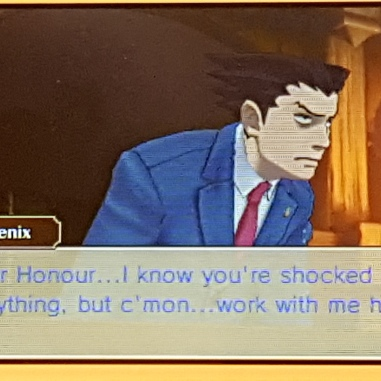 Phoenix Wright in the courtroom