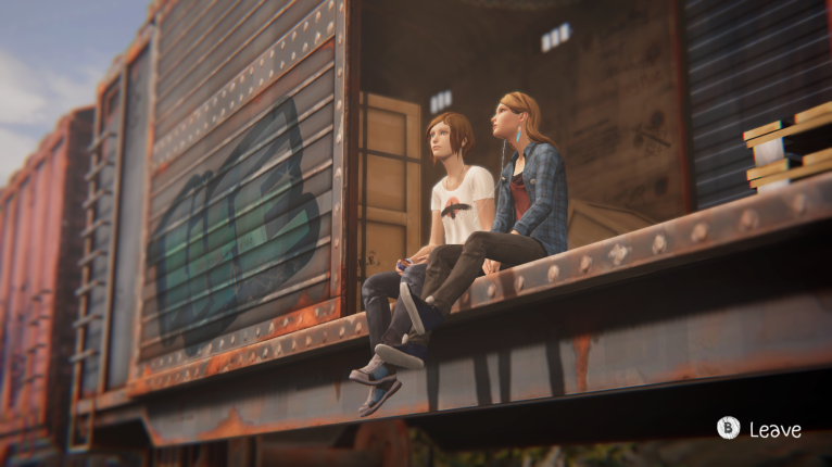 Chloe Price and Rachel Amber on a train