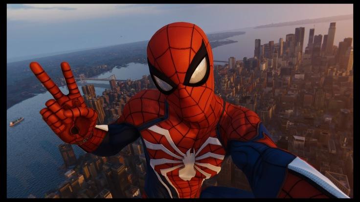 A Spiderman selfie