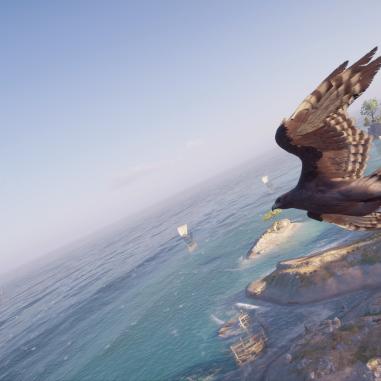 Ikaros flying past.
