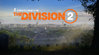 Tom Clancy's The Division 2 written over a view over the city