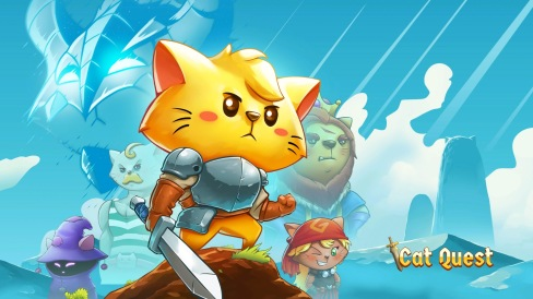 The Cat Quest title screen.