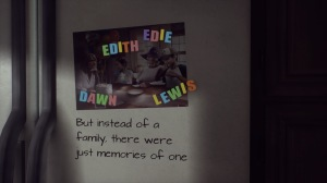 Edith, Edie, Dawn and Lewis. But instead of a family, there were just memories of one.